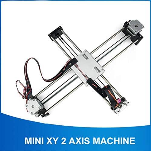 WANGYONGQI DIY Escritura Inteligente Dibujo Robot Mini XY 2 Ejes CNC Pluma Máquina Plotter Avanzado Juguete Motor Paso a Paso 32X22 cm Movimiento: Amazon.es: Deportes y aire libre