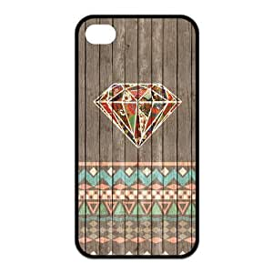Diamond Crystal Design Solid Rubber Customized Cover Case for iPhone 4 4s 4s-linda48