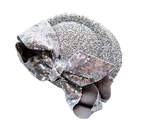 UPC 603335816898, Ahugehome Fascinator Hair Clip Headband Pillbox Sequin Paillette Glitter Bling Mini Top Hat A Silver