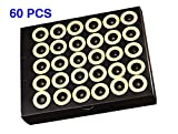 60 Pcs Mini Moxa Sticks Pure High Penetration Moxibustion with Self-Adhesive Base 5-Years Chen Purity 50:1 Ratio