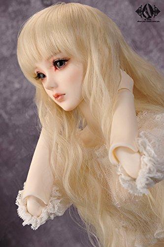 ASDOLL 3分女ドール用ウィッグ 3分BJD女ドール 人形 球体関節人形 パーマ 巻き長髪