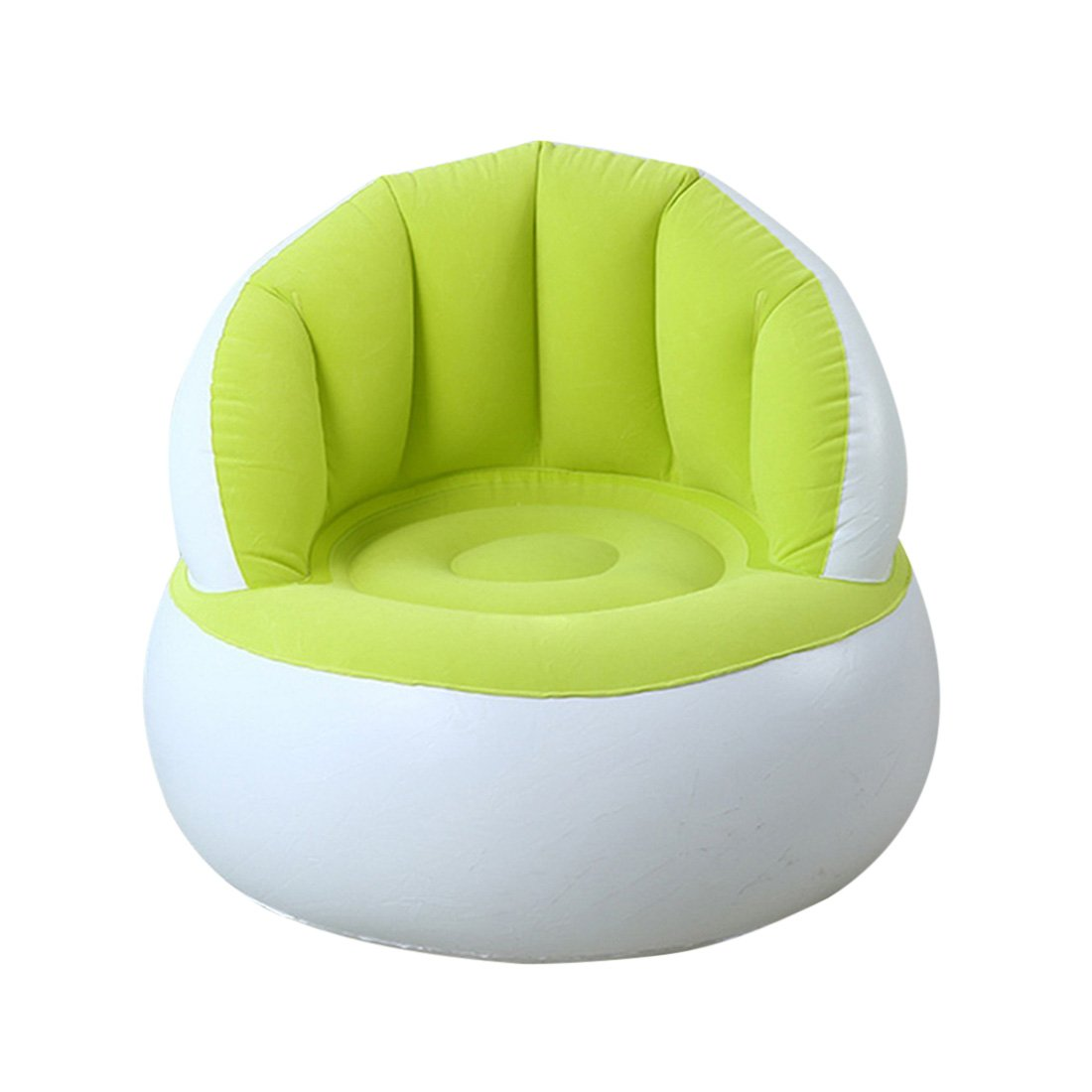Jiyaru Inflatable Chair Flocking Lounger Sofa Home Seat Kids Bean Bag 58x58x53cm Fluorescent Color