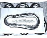 """(Pack of 4) Steel Snap Link Hook, 3/8"""" Diameter"""
