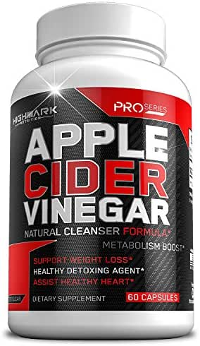 100% Organic Apple Cider Vinegar Capsules by HighMark Nutrition   Fast Weight Loss Pills for Women & Men   Natural Weight Loss & Healthy Detox Cleanse (1300mg   60 Pills)