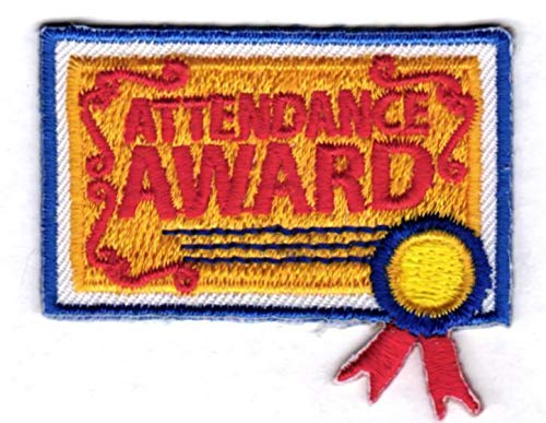 2Pcs Boy Girl Cub ATTENDANCE Award Fun Patches Crests Badges Scouts Guide Good Great