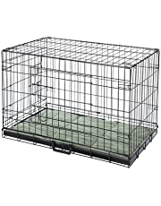 "Confidence Pet Deluxe 30"" 2 Door Dog Cage Crate with Bed Medium"