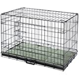 """Confidence Pet Deluxe 24"""" 2 Door Dog Cage Crate with Bed Small"""