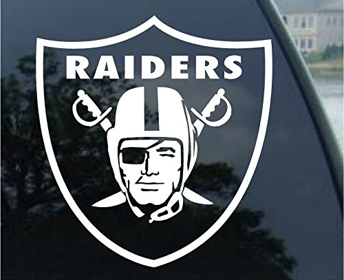 Window Decal Sticker - customdecaltattooz Oakland Raiders Emblem Car Window Decal Sticker (5.5