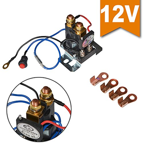 Ehdis 12V 200 AMP Battery Isolator and Relay 4 Terminal Dual Battery Auto Increase Battery DC 12V-24V Suit for All Type of Cars, Track, Van, Vehicle