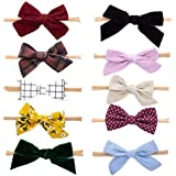 """Parker Baby Girl Headbands and Bows, Assorted 10 Pack of Hair Accessories for Girls -""""The Anne Set"""""""