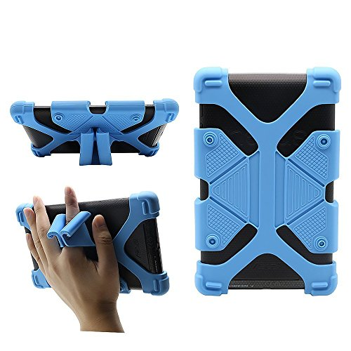 CHINFAI Universal 7 inch Tablet Case Shockproof Silicone Stand Cover for All Versions RCA Voyager Vankyo Yuntab Samsung Google Nexus MatrixPad Z1 Huawei 7 Android Tablet and More, Blue