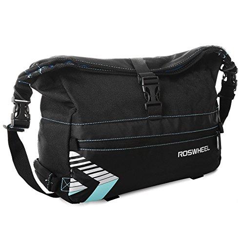 2 Exinnos 6L Bicycle Bag Rear Rack Trunk Bag Waterprrof Bike Package Pannier with Shoulder Strap Bag  Bag Supplies