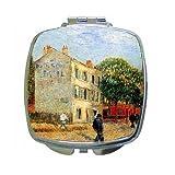 The Rispal Restaurant At Asnieres By Vincent Van Gogh Compact Mirror