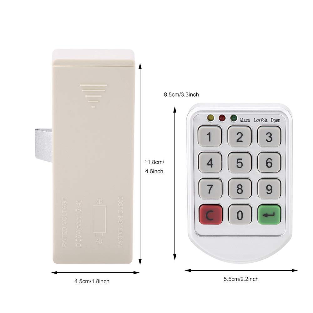 Kit de bloqueo electrónico, Cerradura de contraseña sin llave inteligente electrónica con teclado, número de puerta del gabinete código de bloqueo