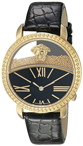 Versace-Womens-KRIOS-Swiss-Quartz-Stainless-Steel-and-Leather-Casual-Watch-ColorBlack-Model-VAS030016
