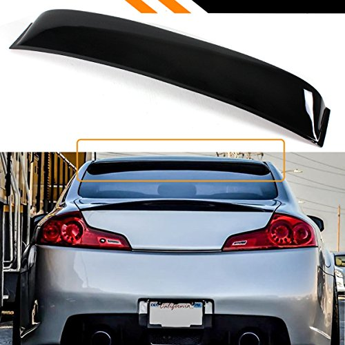 Cuztom Tuning Fits for 2003-2007 Infiniti G35 2 Door Coupe JDM Rear Windshield Window Roof Visor Spoiler Wing