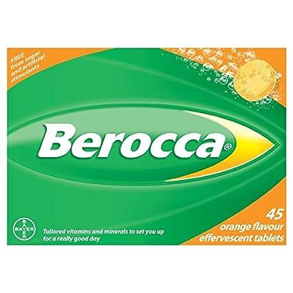 berocca ducha pastillas Naranja 45 Pro Paquete