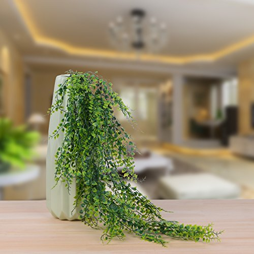 Artiflr 4 Pack Artificial Wall Hanging Plants Artificial Ivy Fake