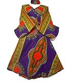 Women Maxi Dashiki Wrap Around Dress Caftan Long Slimming Flowy Dress Cotton Wax