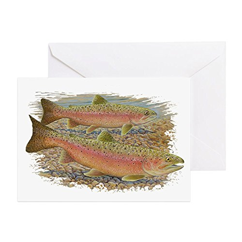 (CafePress - Trout Pair - Greeting Card, Note Card, Birthday Card, Blank Inside Matte)