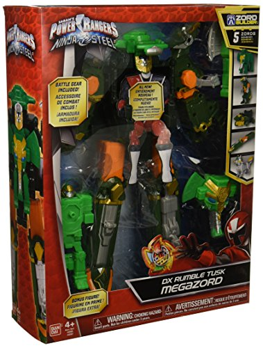 Power Rangers Ninja Steel DX Rumble Tusk Megazord Action -