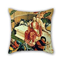 Oil Painting Hans Multscher - Fl??gel-Innenseite Des Wurzacher Altars (rechts Unten) Pillow Covers Best For Deck Chair Kids Boys Play Room Adults Bar Son 20 X 20 Inches / 50 By 50 Cm(2 Sides)