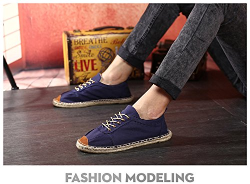 Carade Uomo Donna Classico Tela Casual Slip-on Scarpa Darkblue