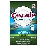 Cascade Complete Powder Dishwasher Detergent, Fresh Scent 75 Oz