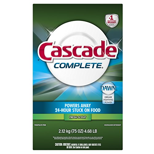 Cascade Complete Powder Dishwasher Detergent, Fresh Scent, 7