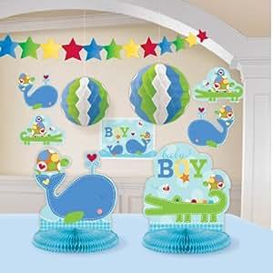 Ahoy Baby Room Decorating Kit Blue Boy Shower Birthday Supplies