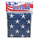 #3: IIT 09900 US Flag Stitch Embroidered Stars and Stripes, 3-Feet x 5-Feet