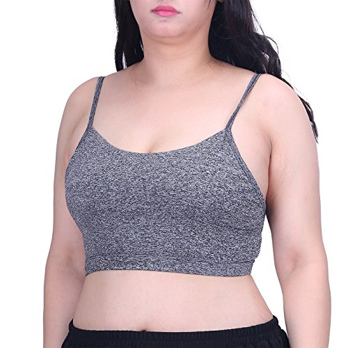 (HDE Women's Sports Bra Plus Size Strappy Back Caged Adjustable Pullover Yoga Top)