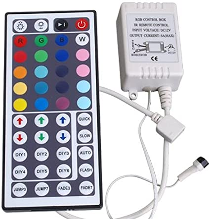 IR Remote Control Controlador 44 Tecla p/ RGB LED Tira