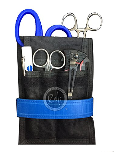 EMI EMT Responder Holster Set Kit Includes Responder Holster, Kelly Straight Forceps, Medical Shears, Disposable Penlight, Lister Bandage Scissors, Adult Adjustable Tourniquet and Knife