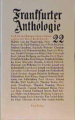Frankfurter Anthologie. Gedichte und Interpretationen: Frankfurter Anthologie, Bd.22