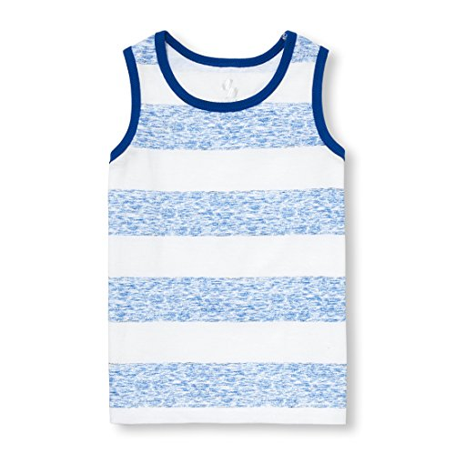 The Children's Place Baby Boys Tank Top, Edge Blue 99833, 4T - Edge Tank