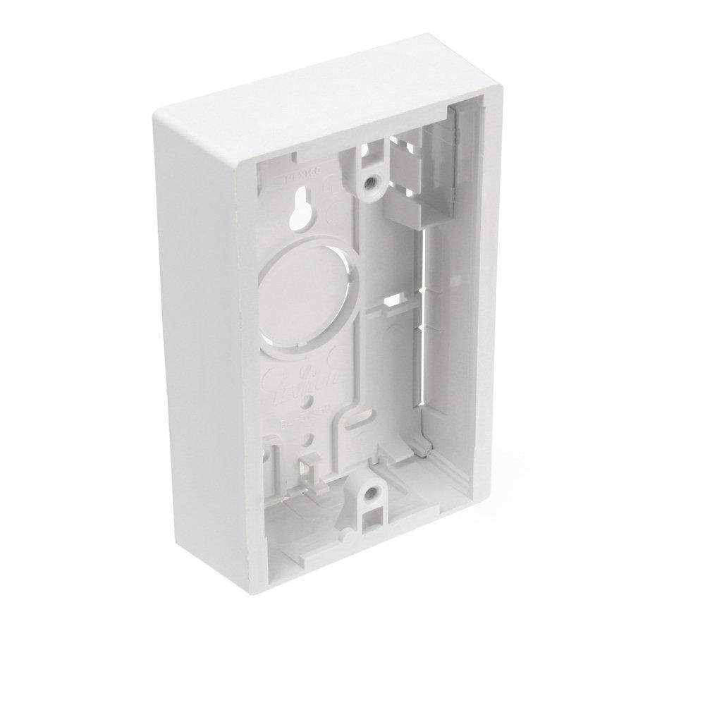Leviton 42777 1WB Surface Mount Backbox Single Gang White 1.45 Inch