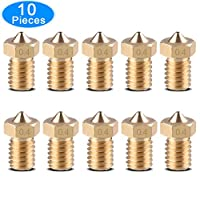 EAONE 10PCS M6 3D Printer Nozzle 0.4mm Brass Extruder Nozzle Print Head for E3D Makerbot from EAONE