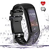 Fitness Tracker, Smart Watch, Waterproof Color Screen Smart Wistband Bluetooth Bracelet Pedometer Watch Health Activity Tracker with Sleep/Heart Rate/Blood Pressure Monitor