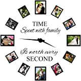 Time Spent with Family Is Worth Every Second Wall Decal Quote Decor Art