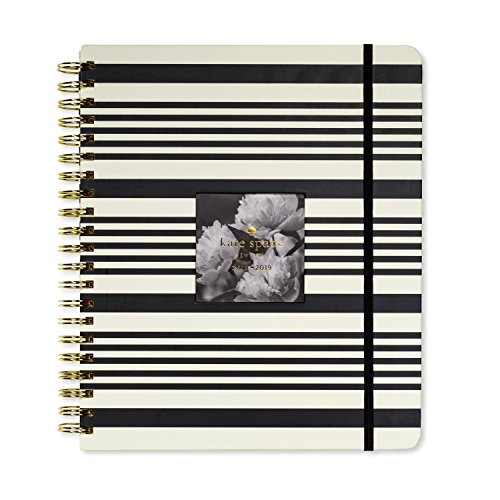 Kate Spade New York Women's Black Stripe Large Full Year Agenda, Black Stripe, One - 1 Stripe Sheet