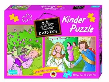 Kinderpuzzle 2er 35 Teile Marchen Dornroschen Und Aschenputtel