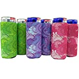 Slim Can Sleeves (6Pack - Floral)