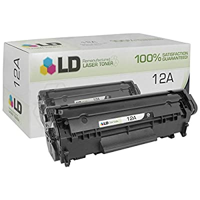 LD © Remanufactured Replacement Laser Toner Cartridge for HP Q2612A (HP 12A) Black for the LaserJet M1319, 1319f, 1010, 1012, 1018, 1020, 1022, 1022n, 1022nw, 3015, 3020, 3030, 3050, 3052, 3055