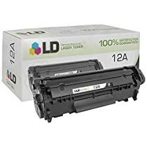 LD © Compatible Replacement for HP Q2612A / 12A Black Laser Toner Cartridge for HP LaserJet Printer Series