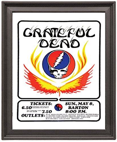 Dead Vintage Poster (Grateful Dead Vintage Concert - Picture Frame 8x10 inches - Poster - Print)