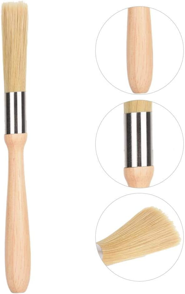 Fdit Wooden Handle Cleaning Brush For Coffee Bean Grinder Coffee Machine and Bar