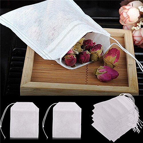 00 pcs Empty Teabags String Heat Seal Filter Paper Herb Loose Tea Bag ()