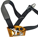 SODIAL Adults Right Foot Ascender Riser Rock Climbing Ascender Mountaineering Equipment Climbing Gear Gold