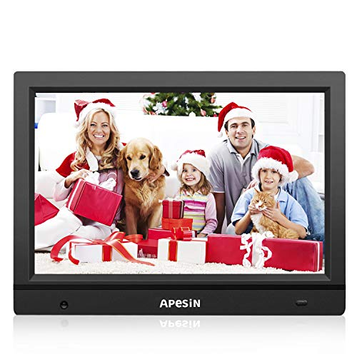 Digital Picture Frame, APESIN 11.1 Inch HD Screen with Motion Sensor(Black)